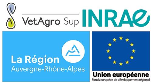 Logos : VetAgro Sup; INRA; Région AURA; UE-FEDER